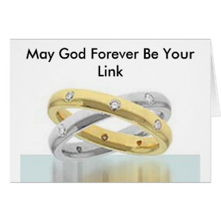 May God Forever Be Your Link Greeting Card