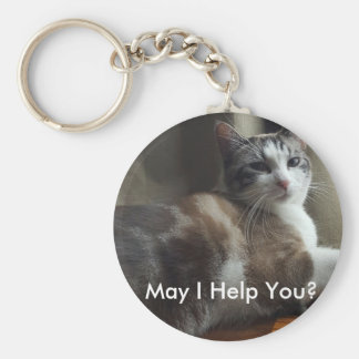 May I Help You Key Chain