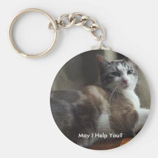 May I Help You Key Chain