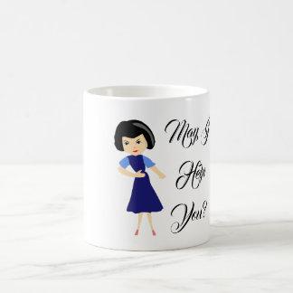 May I Help you White 11 oz Classic Mug