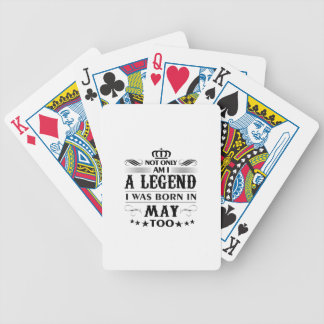 May month Legends tshirts Bicycle Playing Cards