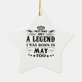May month Legends tshirts Ceramic Ornament