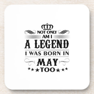 May month Legends tshirts Coaster