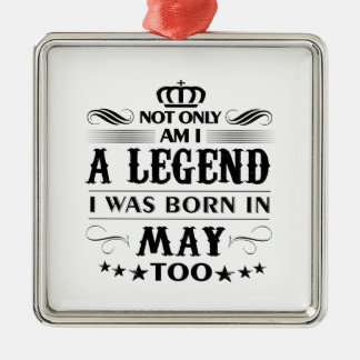 May month Legends tshirts Metal Ornament