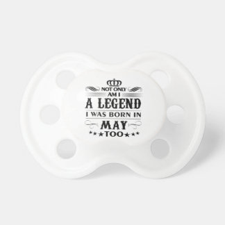 May month Legends tshirts Pacifier