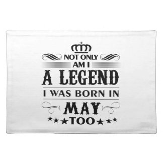 May month Legends tshirts Placemat