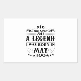 May month Legends tshirts Sticker