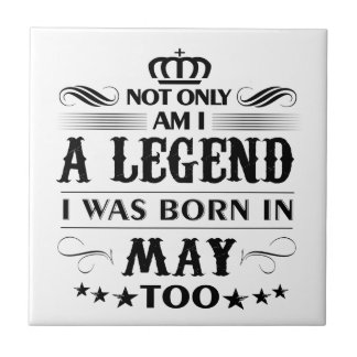 May month Legends tshirts Tile