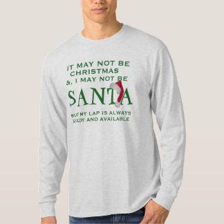 may not be santa funny christmas t-shirt design