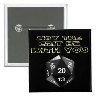 May the Crit be with you 2 Inch Square Button