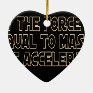 May the Force Be Ceramic Heart Ornament