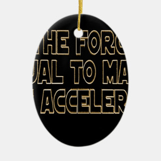 May the Force Be Ceramic Oval Ornament