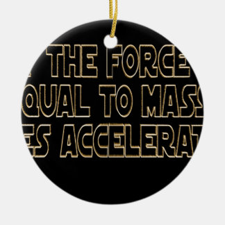 May the Force Be Round Ceramic Ornament