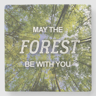 May The Forest Be With You marble coaster Stone Coaster