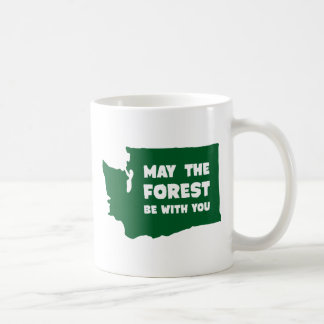 May the Forest Be With You Washington Coffee Mug