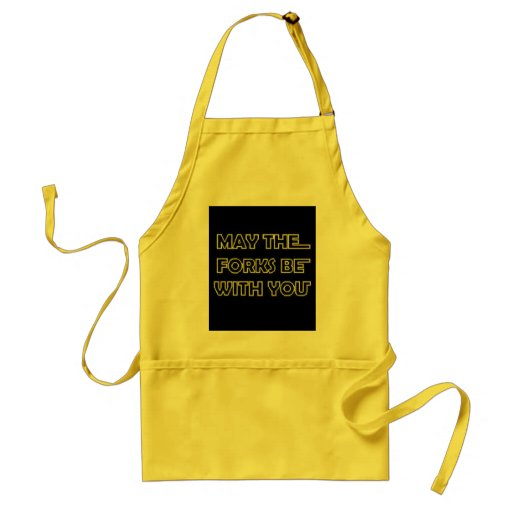 May The Forks Be With You Standard Apron