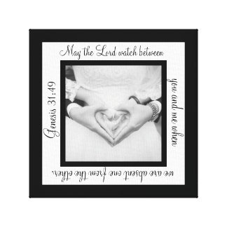 May The Lord Watch Wedding Canvas Art Print