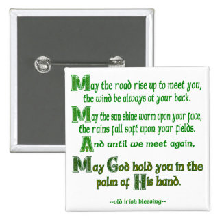 May the Road Rise To Meet You 2 Inch Square Button