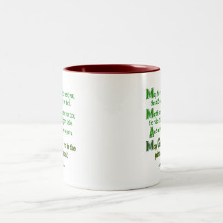 May the Road Rise To Meet You Two-Tone Coffee Mug