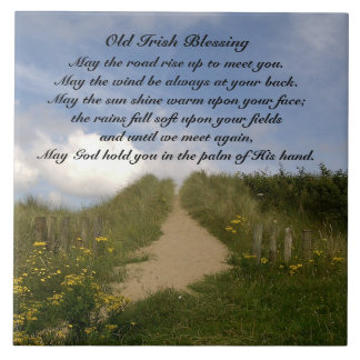 May the Road Rise up to Meet You, Irish Blessing Tile
