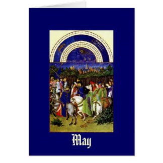 May - the Tres Riches Heures du Duc de Berry Card