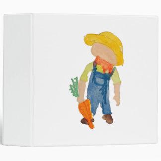 May Toddie Time Spring Planting Farmer Toddler 3 Ring Binder