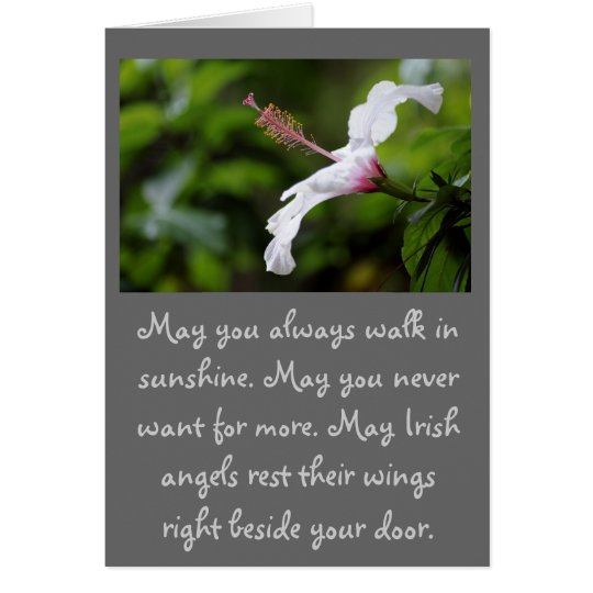 May you always walk in sunshine... card