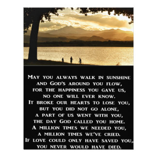 May You Always Walk In Sunshine Prayer Letterhead Design