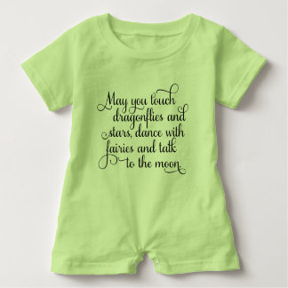 May you dance with fairies Irish Blessing Baby Romper