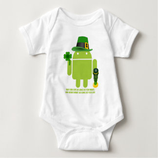 May You Live As Long As You Want Irish Android Baby Bodysuit