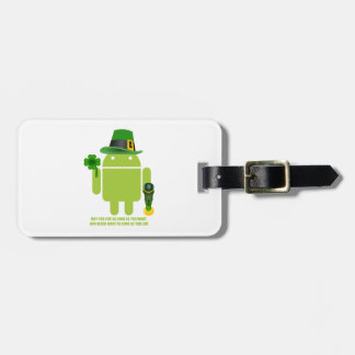 May You Live As Long As You Want Irish Bug Droid Luggage Tag