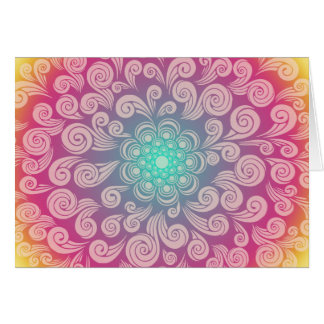 May Your Birthday Bloom Like a Rainbow Plume Card