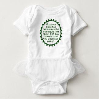 May your blessings outnumber the shamrocks, Irish Baby Bodysuit