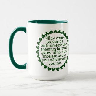 May your blessings outnumber the shamrocks, Irish Mug
