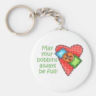 May Your Bobbins Always Be Full! Basic Round Button Keychain