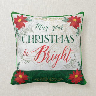 May Your Christmas be Bright Holiday Decor Pillow