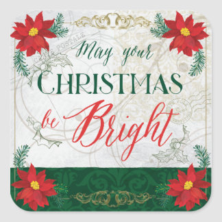 May Your Christmas be Bright Stickers