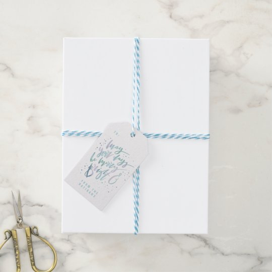 MAY YOUR DAYS BE MERRY AND BRIGHT GIFT TAGS
