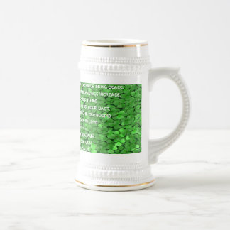 May your mornings bring joy and your evenings beer stein