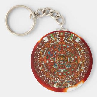 maya aztec calendar keychain