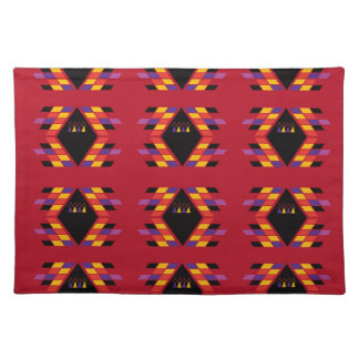 Maya / Aztec handdrawn  Folk Summer vintage patter Placemat