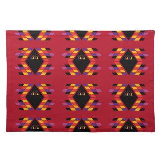 Maya / Aztec handdrawn  Folk Summer vintage patter Placemats