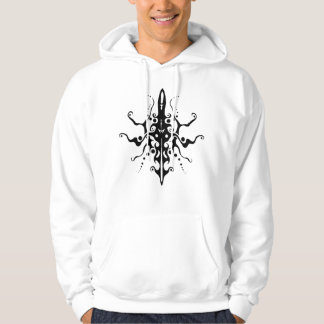 Maya Mask Tribal Tattoo - black and white Hoodie