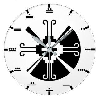 Maya numerals - Hunab Ku Wall Clock. Large Clock