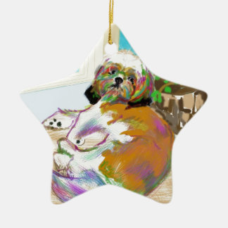Maya on the table ceramic star ornament