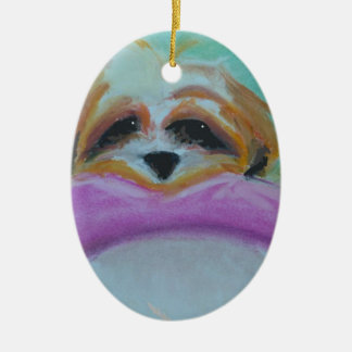 Maya wants you to have this ceramic oval ornament