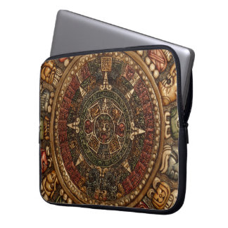 Mayan and Aztec Calendar by Grassrootsdesigns4u! Laptop Sleeve