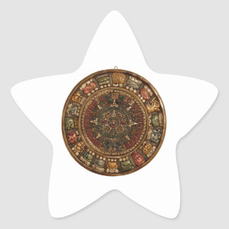Mayan and Aztec Calendar (Multiple Products) Star Sticker