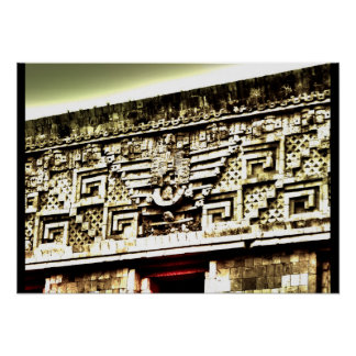 mayan architecture poster