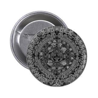Mayan Aztec Calendar black 12 21 2012 Pinback Buttons